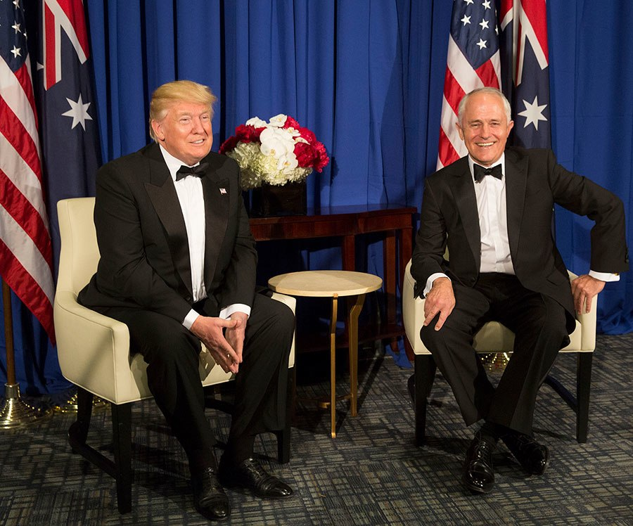 Donald Trump and Malcolm Turnbull 2017