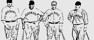 Ollie Carnegie - Ollie Carnegie (third from the left) pictured with teammates of the Dormont, Pennsylvania semi-professional baseball team.