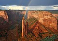 Double Rainbows at Spider Rock, Canyon de Chelly (7533820278).jpg