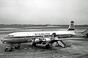 Sterling Airlines - Sterling Airways Douglas DC-6B at Copenhagen (Kastrup) Airport in 1968