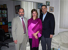 Dr. Ehtuish Ehtuish Dr. Francis Delmonico, Dr. Debra Budiani at dr.ehtuish's office..jpg