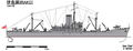 Drawing of IJN food supply ship Irako 1941.png