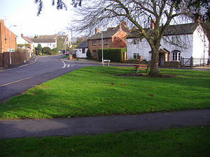 Drayton, Northamptonshire - Image: Drayton school and green 22nd Jan 2008 (2)