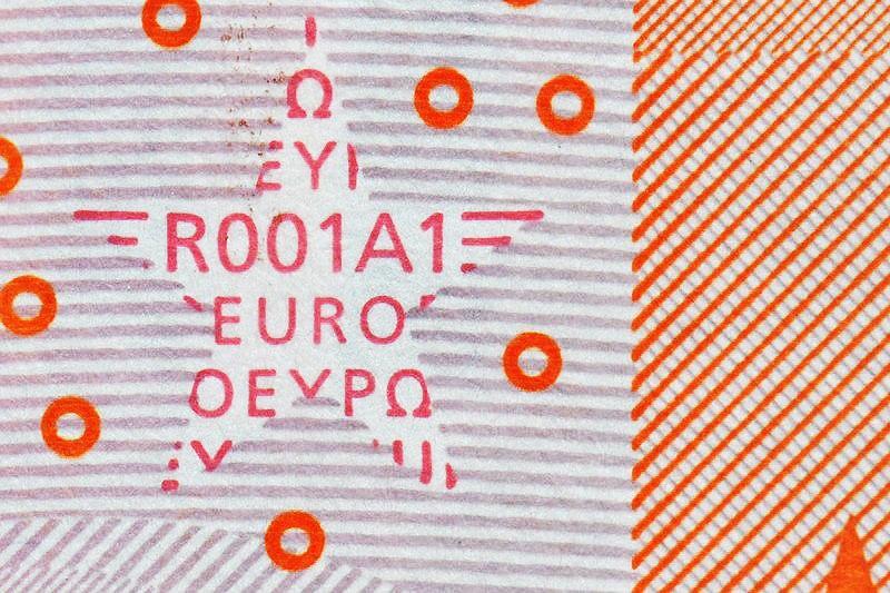 Druckplattennummer 010EUR R001A1