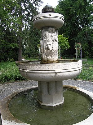 Nibelung - Nibelungs fountain in Durlach, 1915 by Otto Feist.
