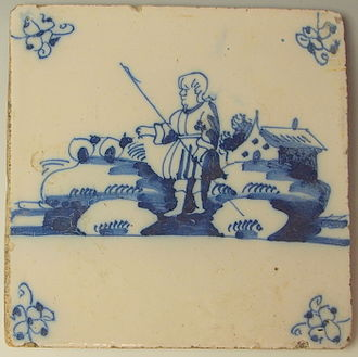 Delftware - Dutch Delftware tile