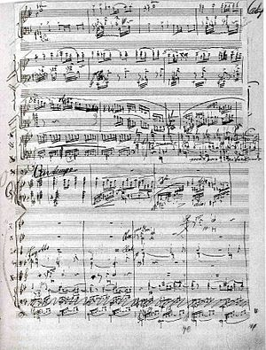 Piano Concerto (Dvořák) - Page from Dvořák's Piano Concerto in G minor, Op. 33
