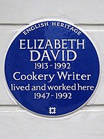 ELIZABETH DAVID 1913-1992 Cookery Writer lived and worked here 1947-1992.jpg