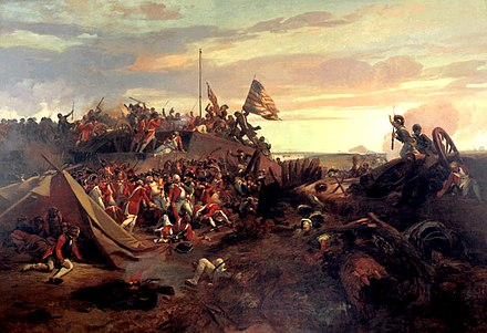 The Storming of Redoubt #10, an 1840 painting by Eugene Lami Redbout-10.jpg
