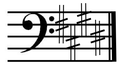 E flat major on bass clef.png