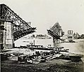 Eads Bridge construction. Erection of west and center arches, view looking northeast, September 1873.jpg
