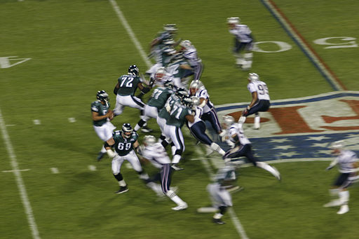 Eagles on offense at Super Bowl XXXIX 2