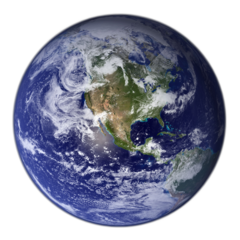 NASA photo of the earth (public domain)