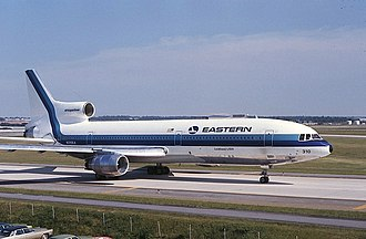 Lockheed L-1011 TriStar - An Eastern Air Lines L-1011 Tristar in St. Louis in 1972. This aircraft crashed in The Everglades a few weeks after photo was taken.