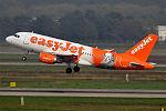 EasyJet (William Shakespeare Livery), G-EZBI, Airbus A319-111 (16270490379) (2).jpg