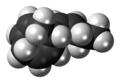 Ectocarpene molecule spacefill.png