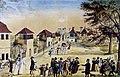 Edinger Ravensburg Scheibenschießen auf der Kuppelnau 1821.jpg