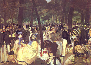 Music in the Tuileries, 1862.