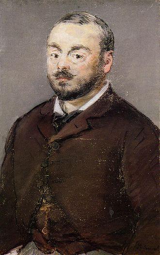 Emmanuel Chabrier - Chabrier, 1880, by Manet, Ordrupgaard Museum, Denmark