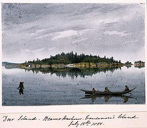 Edward Gennys Fanshawe, Deer Island, Beaver Harbour, Vancouver's Island, July 15th 1851 (Canada).jpg