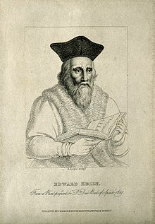 Edward Kelley. Stipple engraving by R. Cooper. Wellcome V0003198.jpg