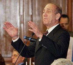 Ehoud Olmert, le 10 mars 2005 à São Paulo.
