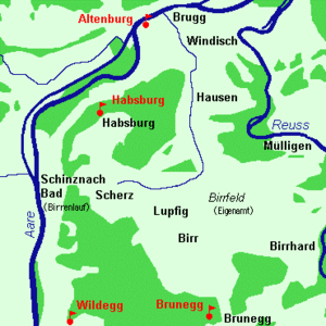 Habsburg, Switzerland - The Habsburg lands from the 11th to 13th Centuries