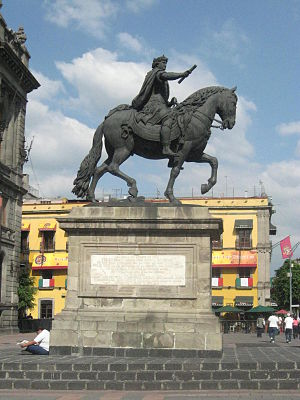 Museo Nacional de Arte - Statue of Charles IV of Spain of Spain El Caballito by Manuel Tolsá