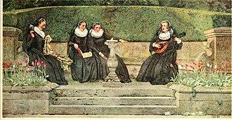 Mary Hamilton - Illustration by Eleanor Fortescue-Brickdale: She had Mary Seaton, and Mary Beaton, And Mary Carmichael, and me
