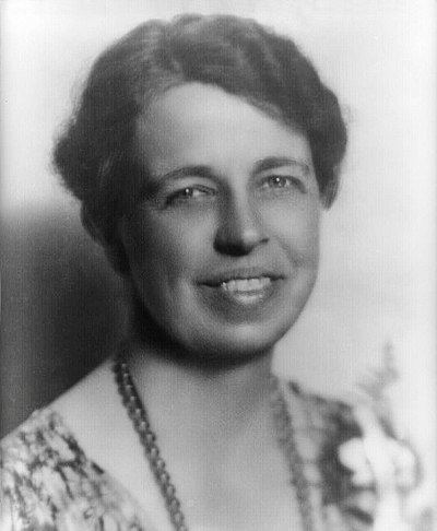 Eleanor Roosevelt, American politician, diplomat, and activist, and First Lady of the United States