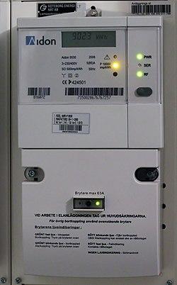 Electronic elecricity meter IMG 6895.JPG