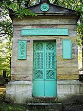 Grabstätte auf dem Historischen Friedhof Weimar (Quelle: Wikimedia)