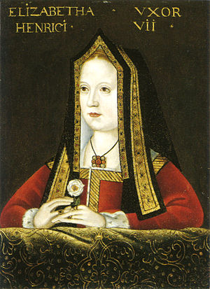 Elizabeth of York - 16th century copy of a 15th century portrait