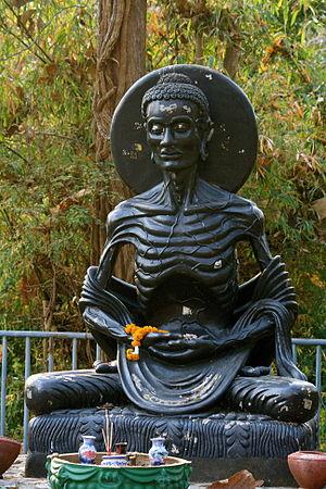Asceticism - Image: Emaciated Siddhartha Fasting Gautama Buddha
