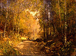 Emil Jakob Schindler - Forest Lane near Schärfling - Google Art Project.jpg