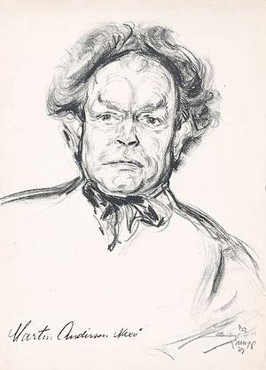 Emil Stumpp - A portrait by Strumpp of Martin Andersen Nexø.