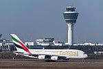Emirates Airbus A380-861 A6-EDW MUC 2015 01.jpg