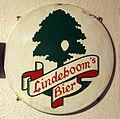 Enamel advertising sign, Lindeboom's Bier.JPG