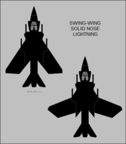 English Electric Sea Lightning FAW.1 top-view silhouette