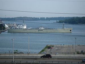 English River backs in to the Polson slip to moor at the La Farge cement silos -ab.jpg