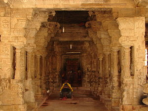 Kolar district - Main hall to the temple sanctum