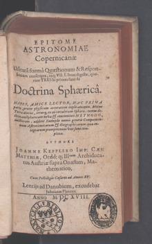 Johannes Kepler Wikiquote
