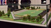 Eröffnung des Rapideums - 5 - Modell des einstigen Rapid-Platzes auf der Pfarrwiese