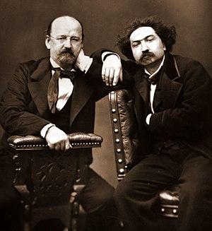Erckmann-Chatrian - Woodburytype of Émile Erckmann and Alexandre Chatrian circa 1875