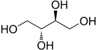 Erythritol structure.png