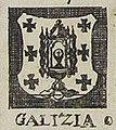 Escudo da Galiza na Nova et accurata Tabula Hispaniae de Johannis Visscher (1633).jpg