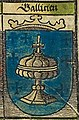 Escudo da Galiza no mapa de Europa Central de Georg Erlinger (1530).jpg
