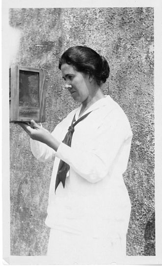 Eleanor Carothers - Eleanor Carothers holding one of her specimen cases
