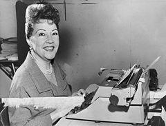 Ethel Merman at the typewriter in 1953, New York World-Telegram photo by Walter Albertin