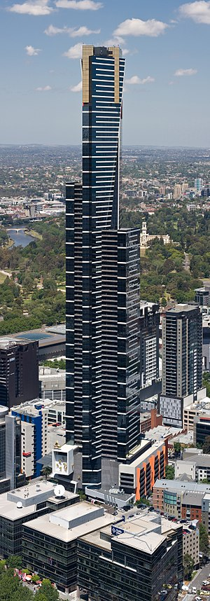 English: Eureka Tower as viewed from Rialto To...